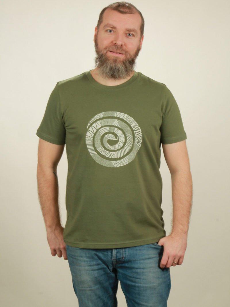 Herren-T-Shirt Snake - green - NATIVE SOULS