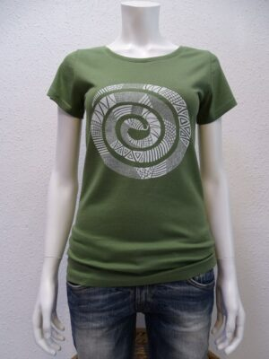 Damen T-Shirt Snake - green - NATIVE SOULS