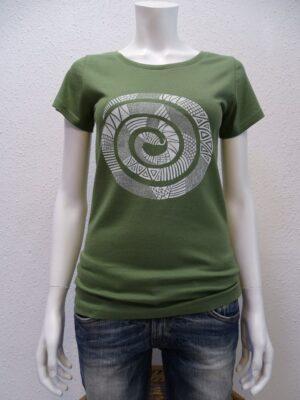 Damen T-Shirt Snake - green - NATIVE SOULS