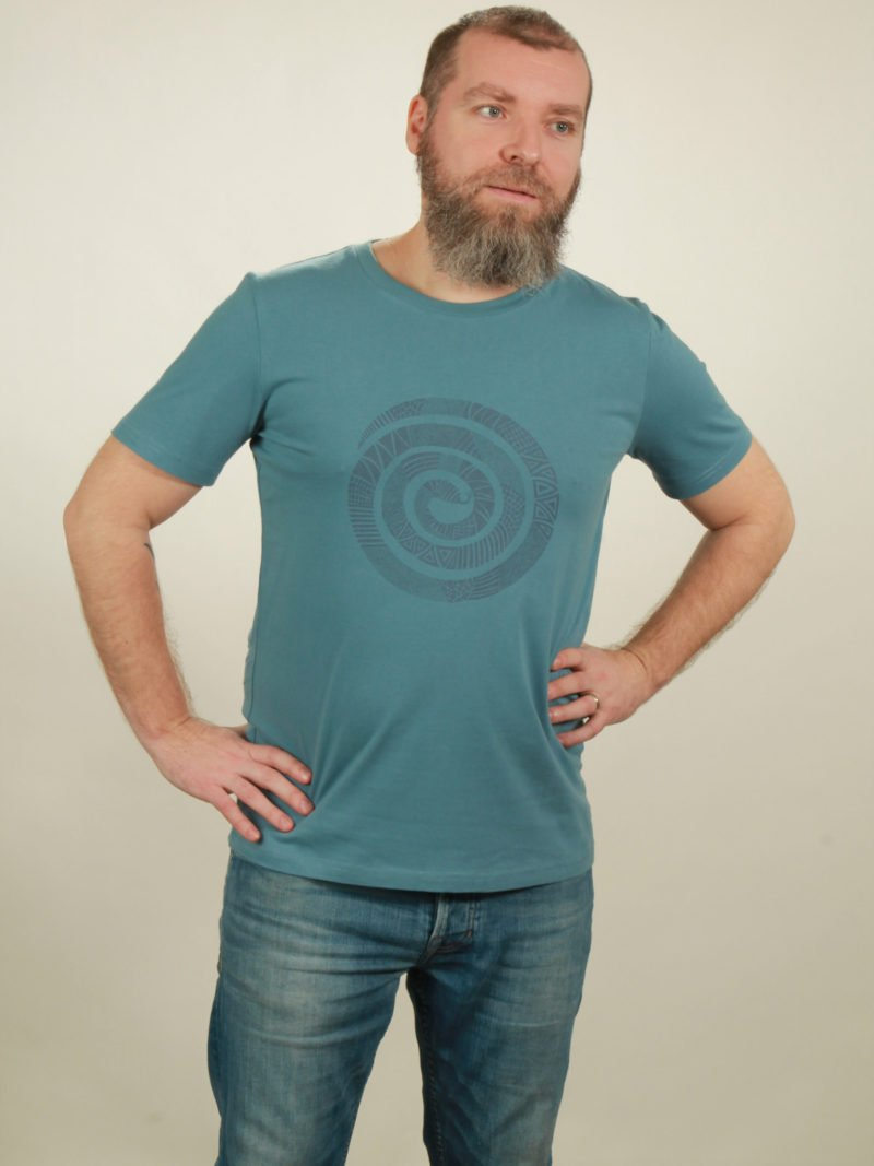 Herrren-T-Shirt Snake - light blue - NATIVE SOULS