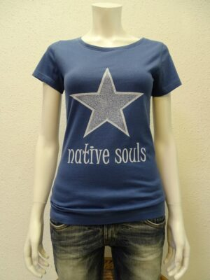 Damen-T-Shirt Star - dark blue - NATIVE SOULS
