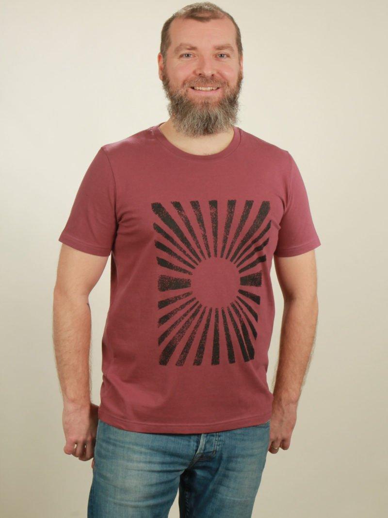 Herren-T-Shirt Sun - berry - NATIVE SOULS