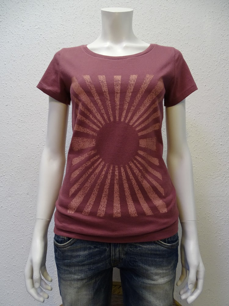 Damen T-Shirt Sun - berry - NATIVE SOULS