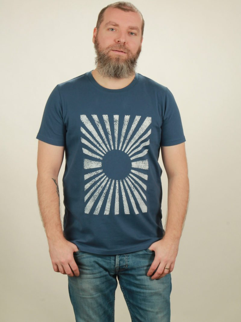 Herren-T-Shirt Sun - dark blue - NATIVE SOULS