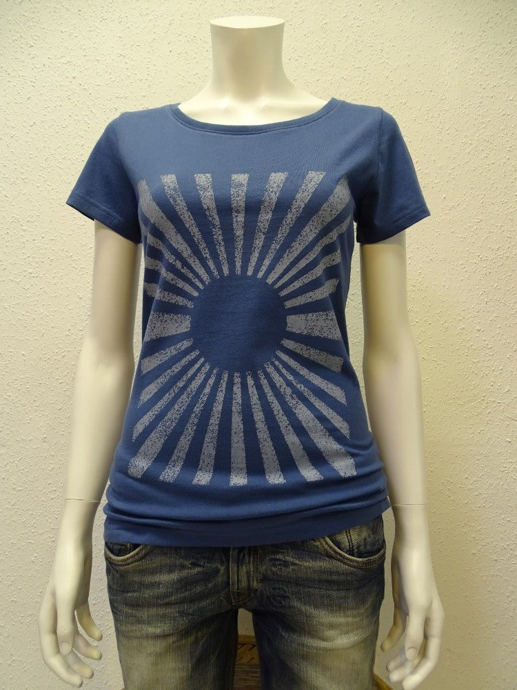 Damen T-Shirt Sun - dark blue - NATIVE SOULS