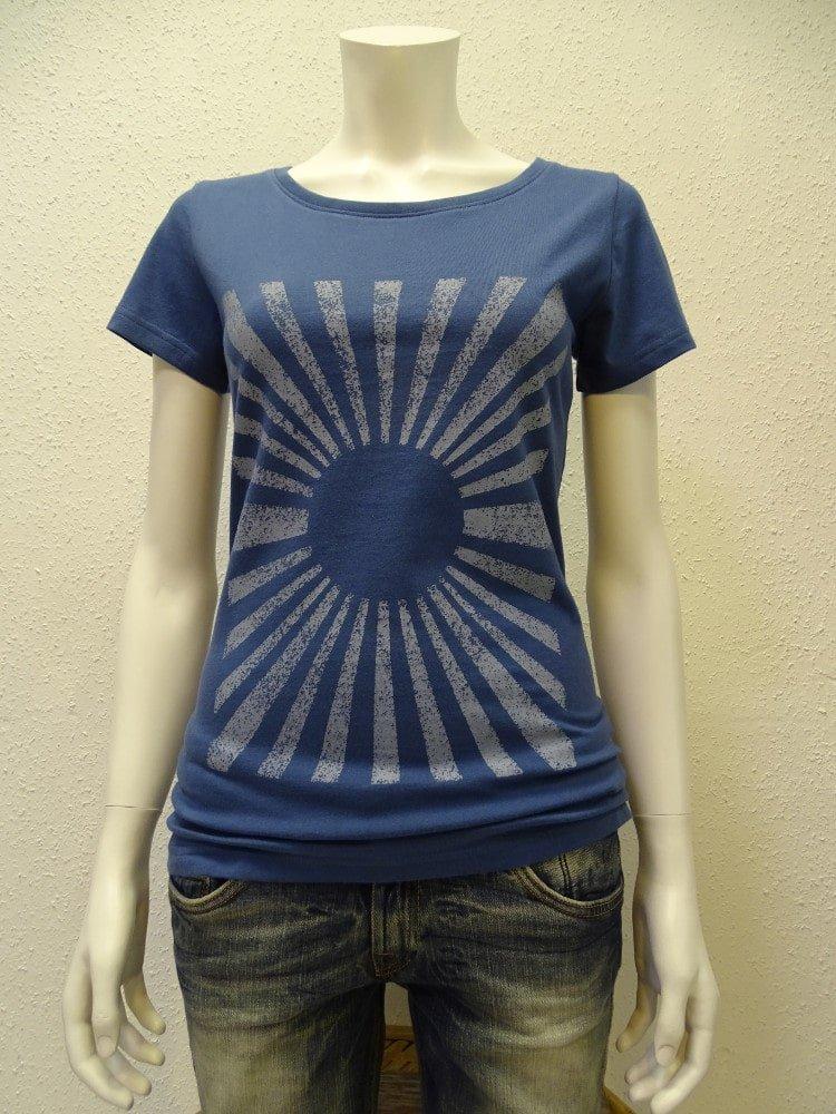 Damen T-Shirt Sun - dark blue - NATIVE SOULS