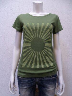 Damen T-Shirt Sun - green - NATIVE SOULS