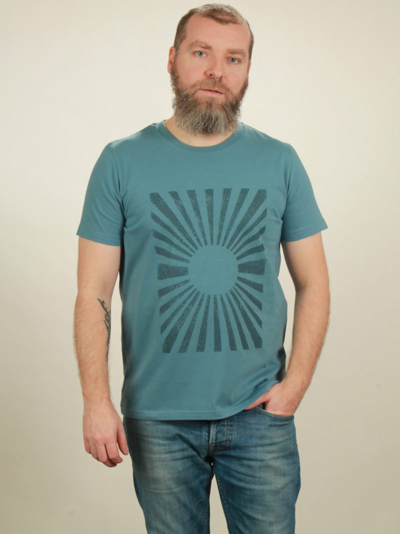 Herren-T-Shirt Sun - light blue - NATIVE SOULS