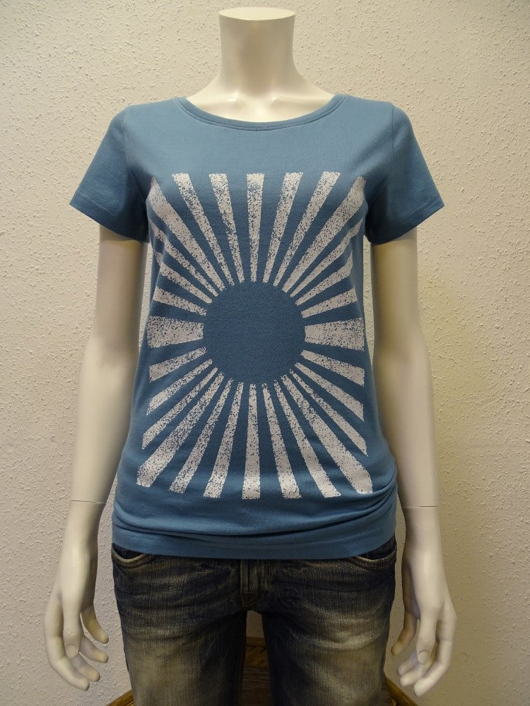 Damen T-Shirt Sun - light blue - NATIVE SOULS