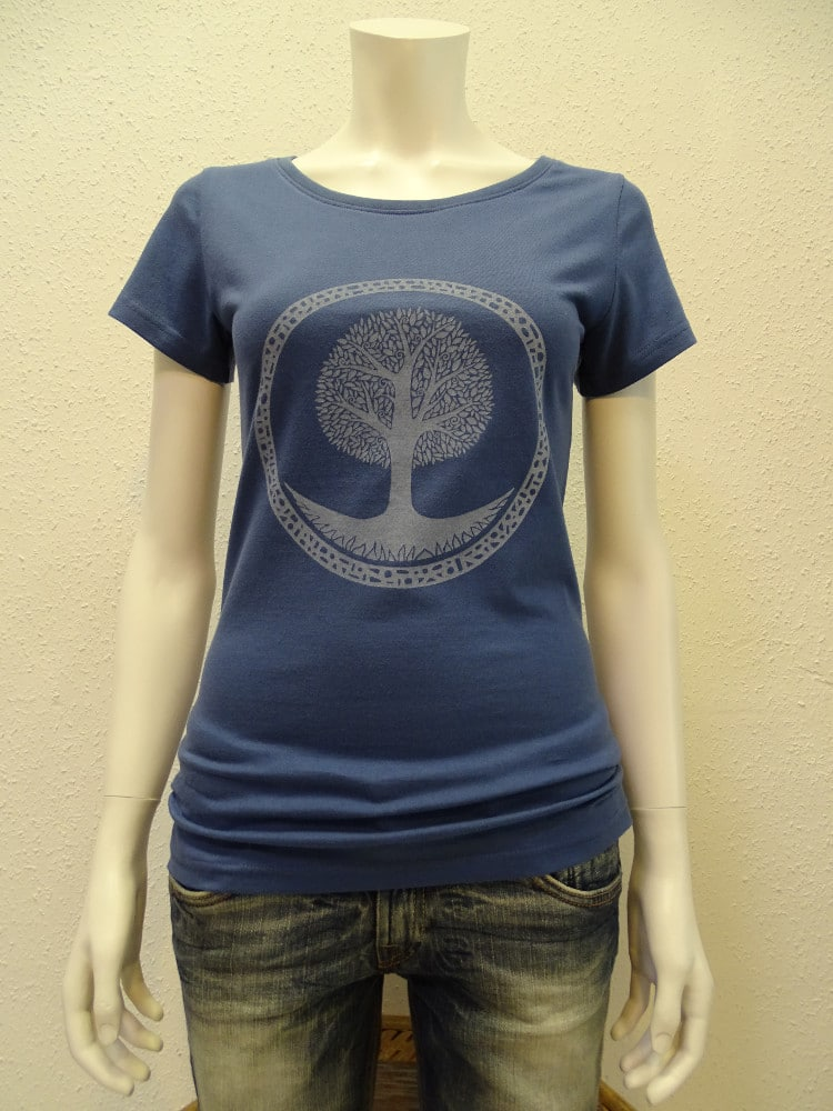 Damen T-Shirt Tree - dark blue - NATIVE SOULS
