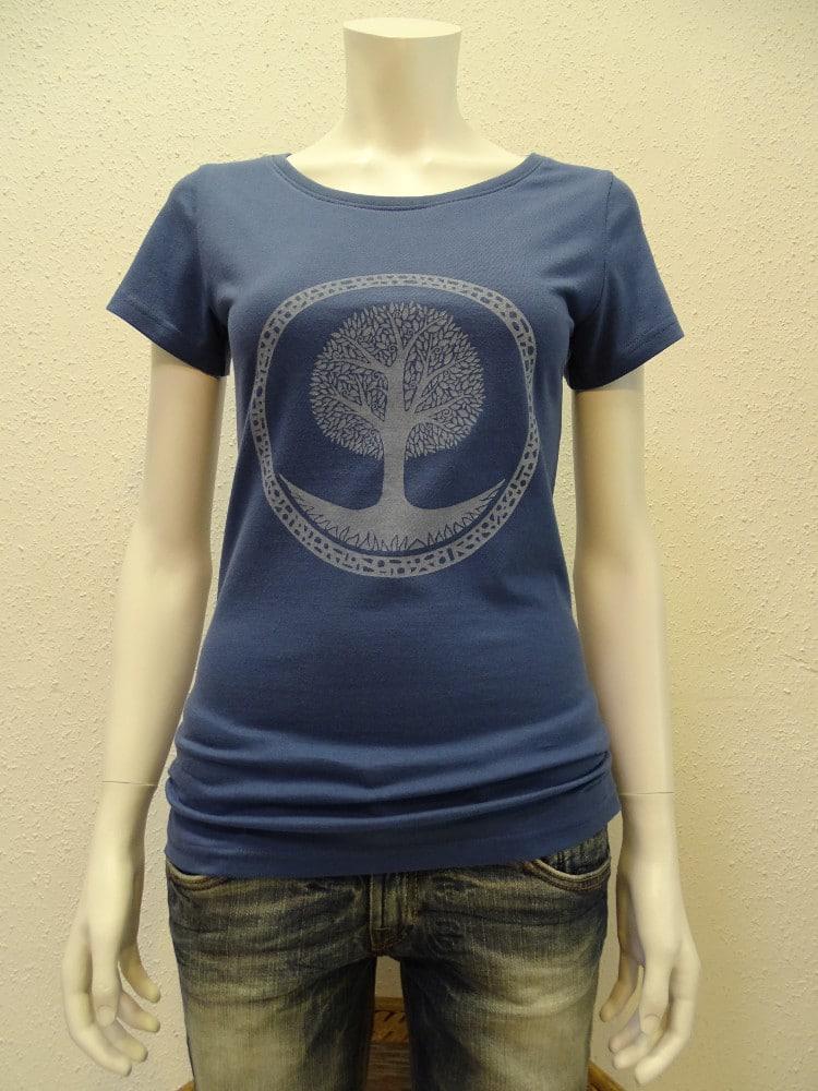 Damen T-Shirt Tree - dark blue - NATIVE SOULS
