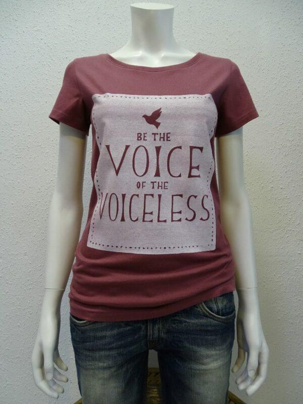 Damen T-Shirt Voiceless - berry - NATIVE SOULS