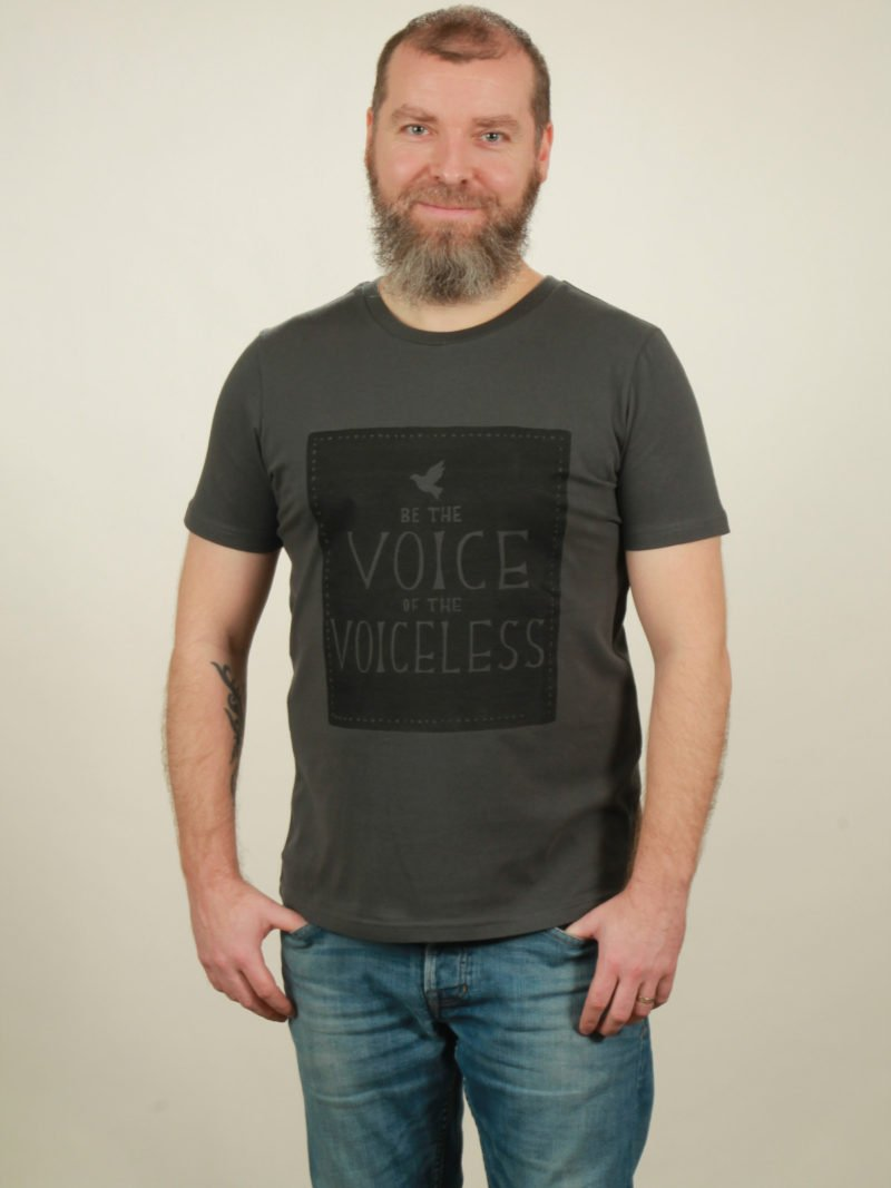 Herren-T-Shirt Voiceless - dark grey - NATIVE SOULS