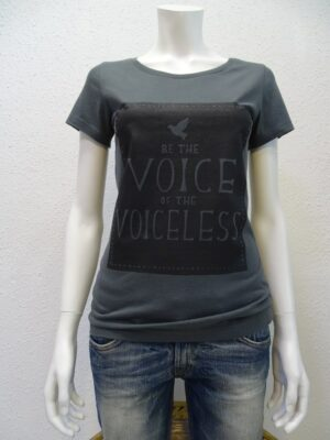 Damen T-Shirt Voiceless - dark grey - NATIVE SOULS