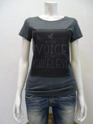Damen T-Shirt Voiceless - dark grey - NATIVE SOULS