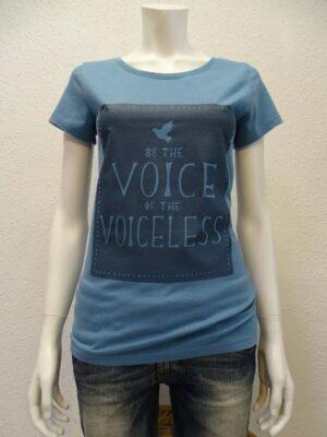 Damen T-Shirt Voiceless - light blue - NATIVE SOULS