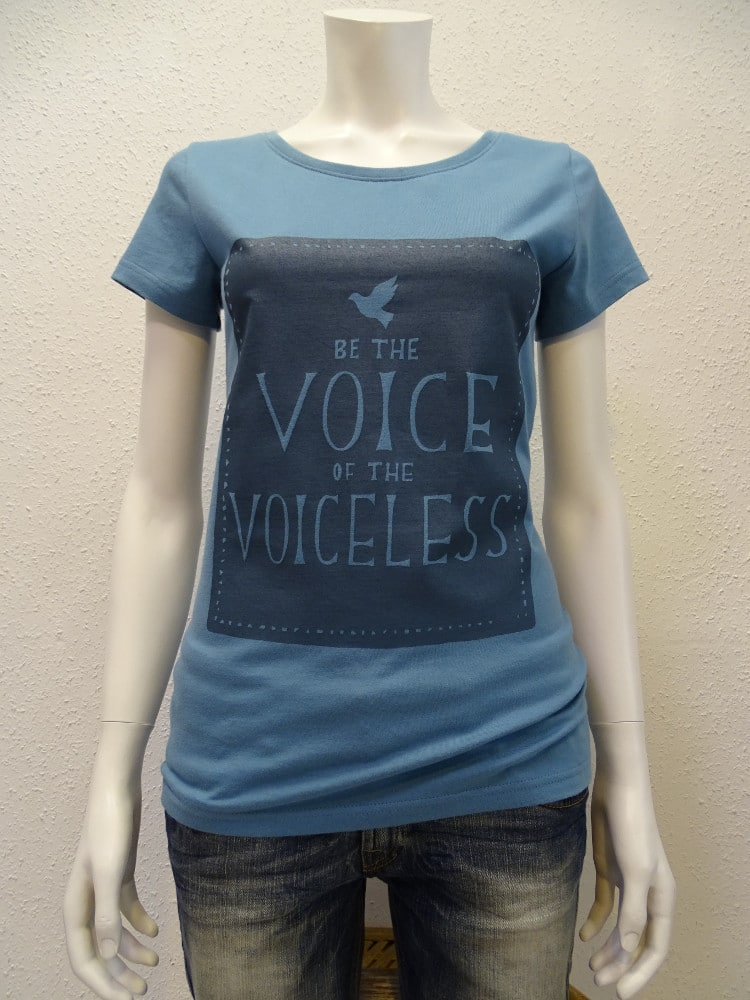 Damen T-Shirt Voiceless - light blue - NATIVE SOULS