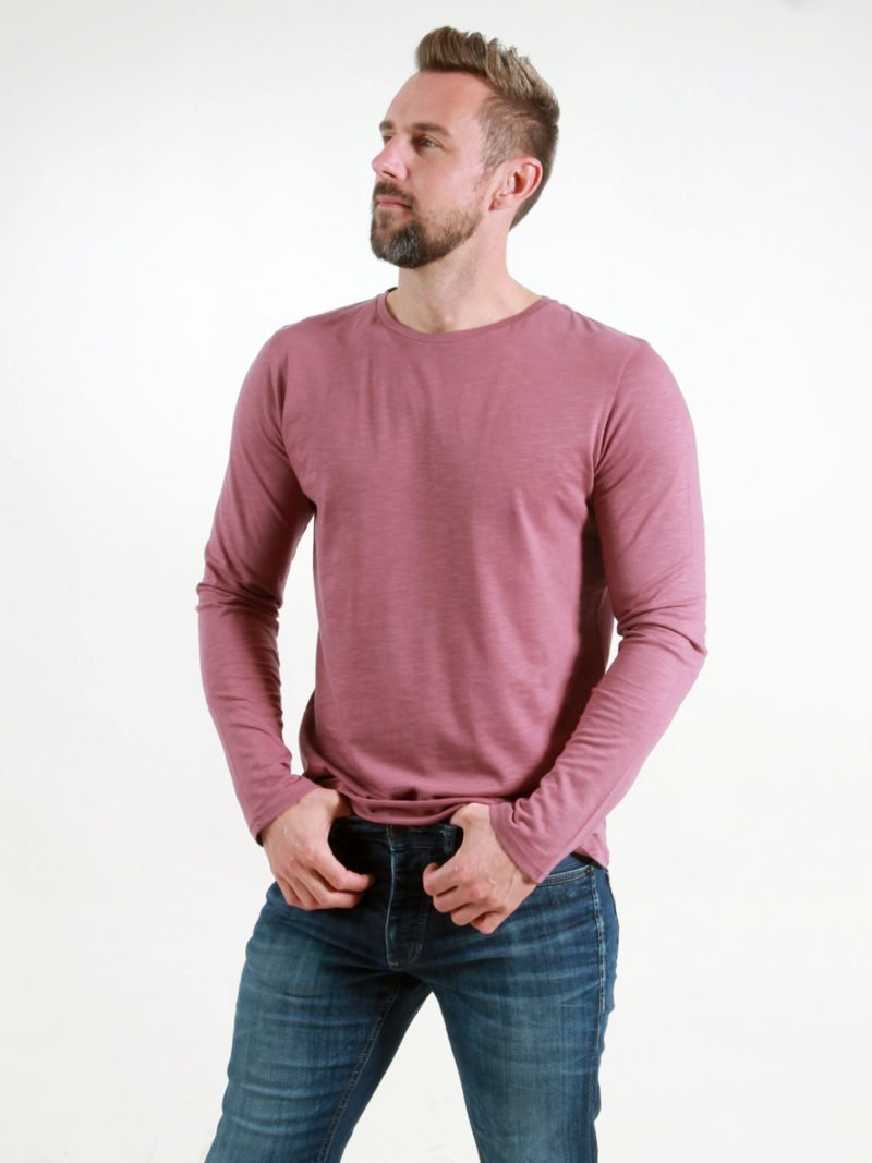 Basic Longsleeve Man berry
