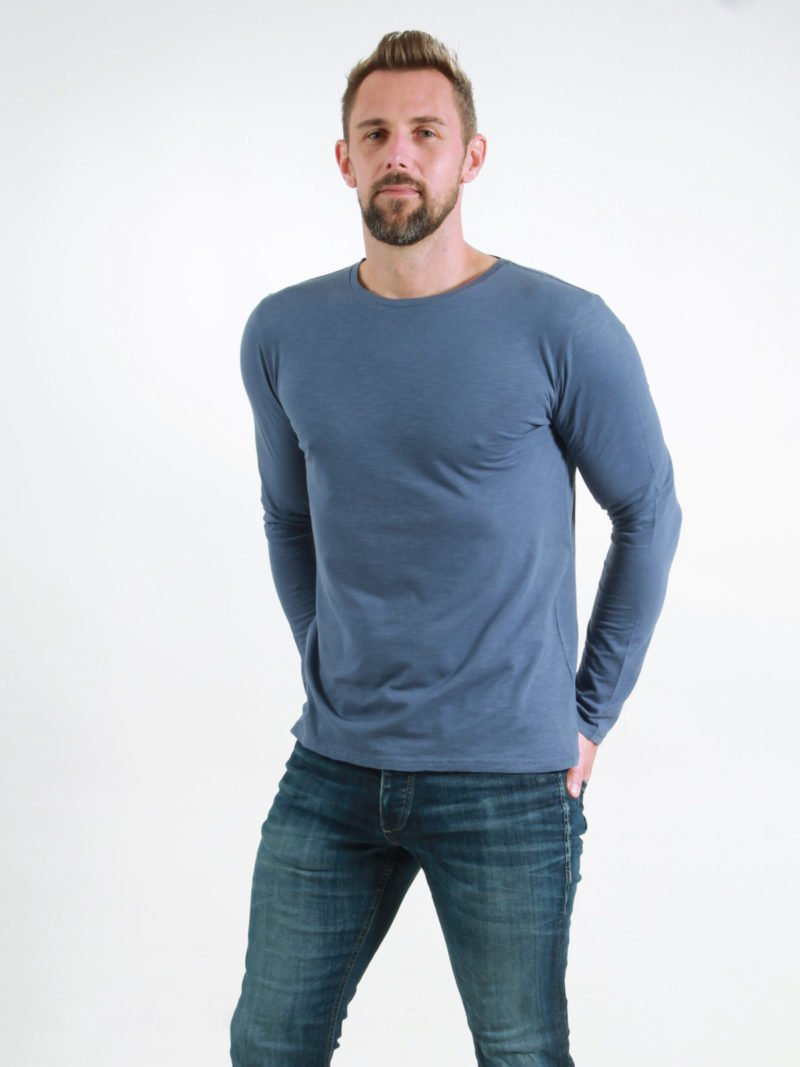 Basic Longsleeve Man dark blue