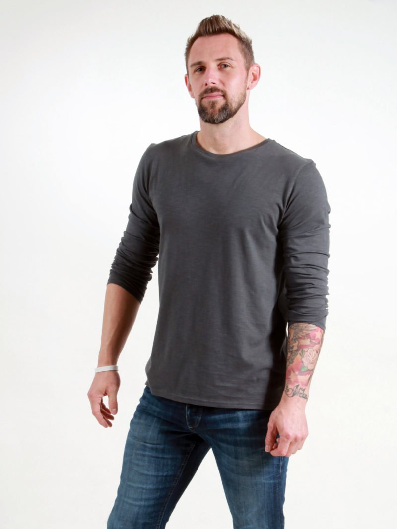 Basic Longsleeve Man dark grey
