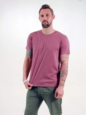 Basic T-Shirt Man berry