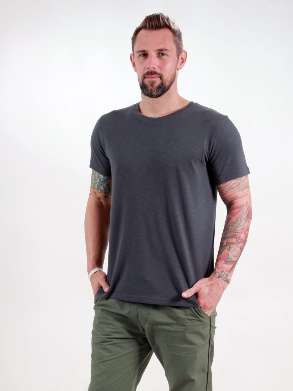 Basic T-Shirt Man dark grey