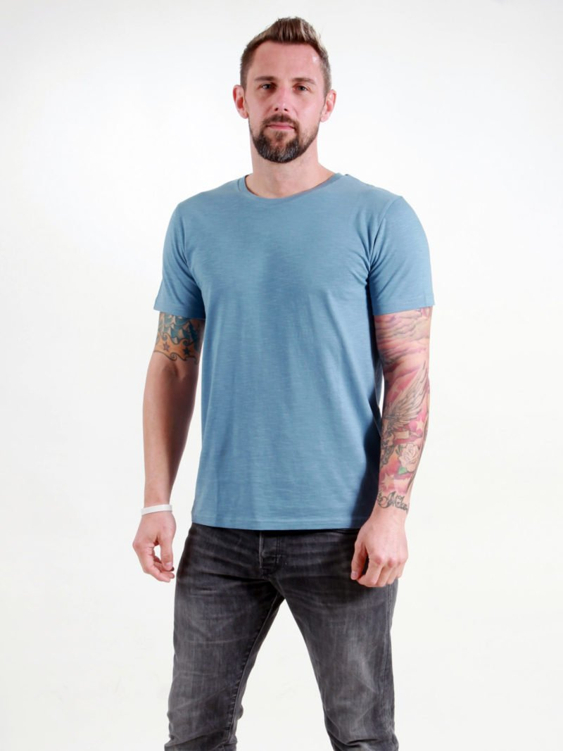 Basic T-Shirt Man light blue