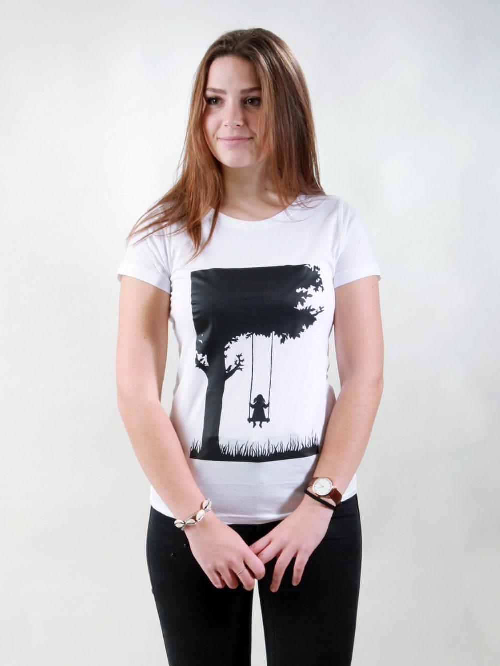 T-Shirt Damen Child white