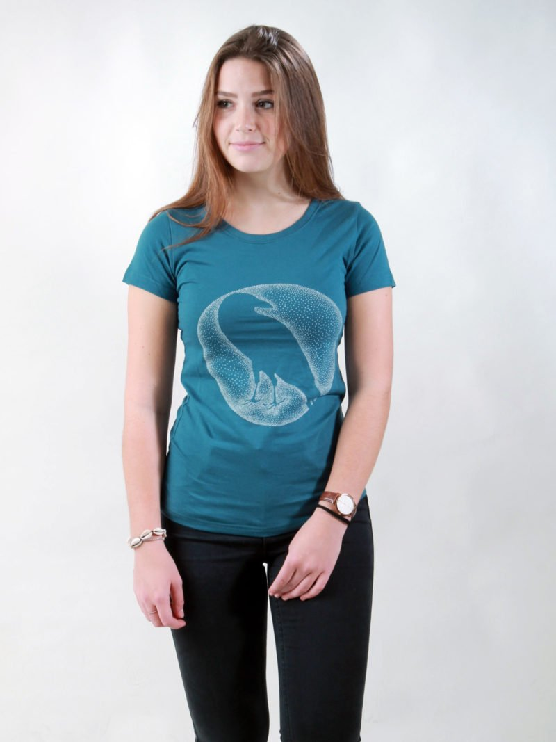 T-Shirt Damen Crow deep teal