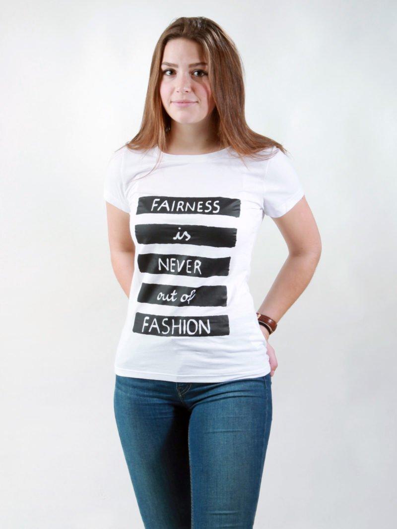 T-Shirt Damen Fairness white