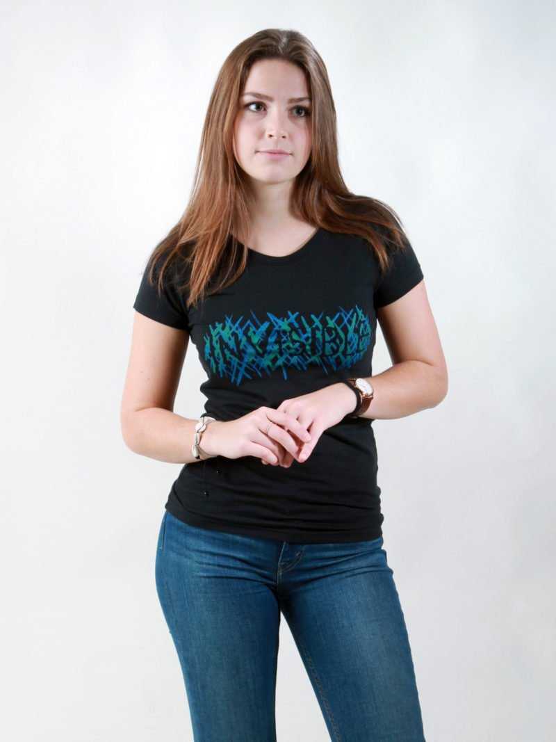 T-Shirt Damen Invisible black
