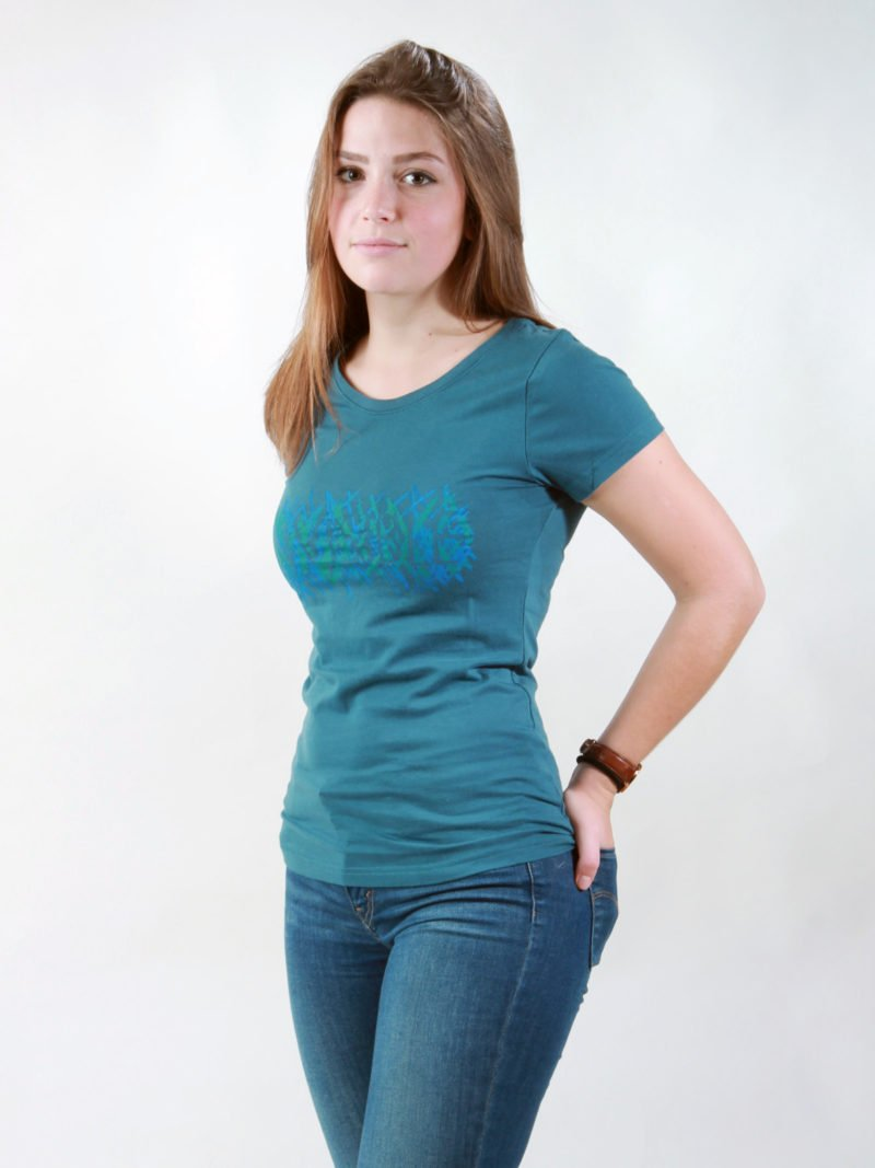 T-Shirt Damen Invisible deep teal