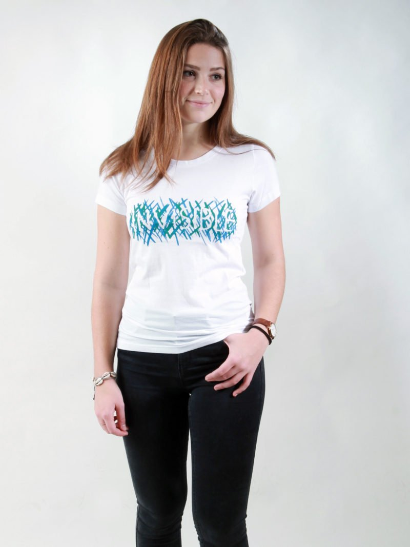 T-Shirt Damen Invisible white