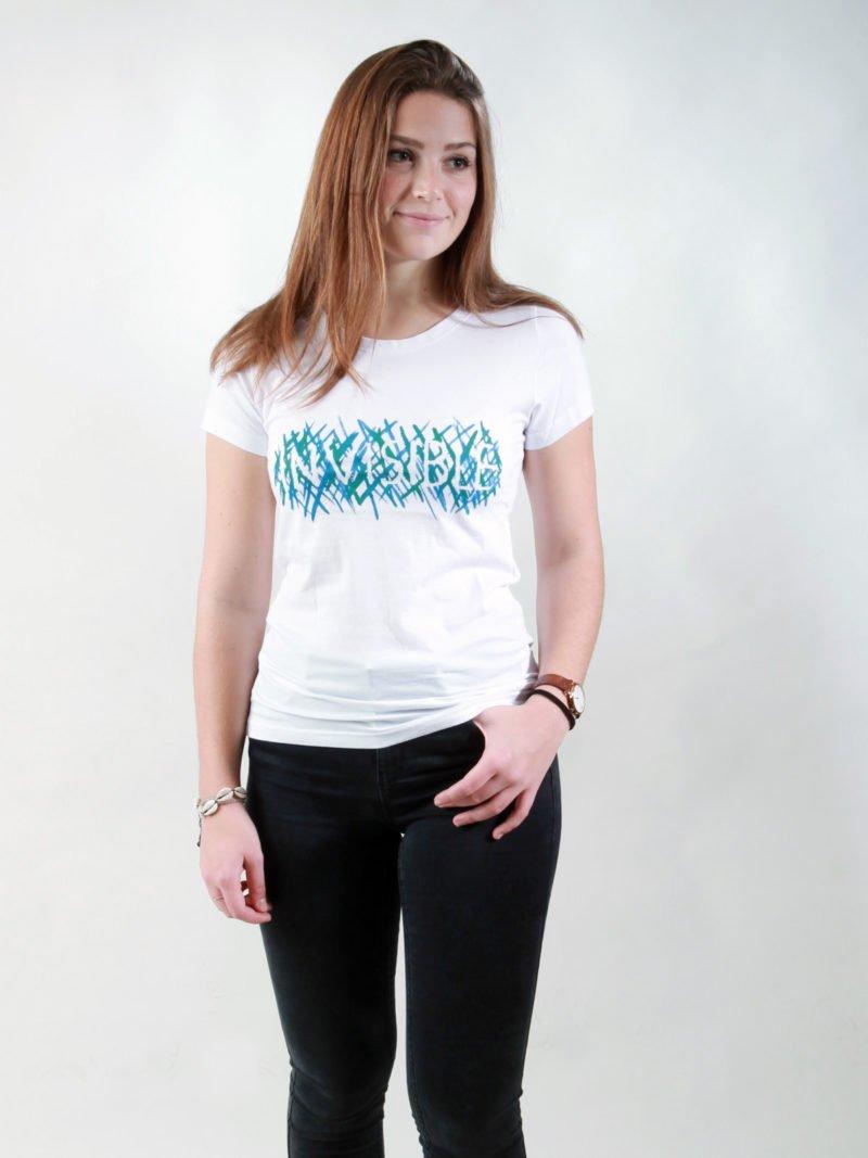 T-Shirt Damen Invisible white