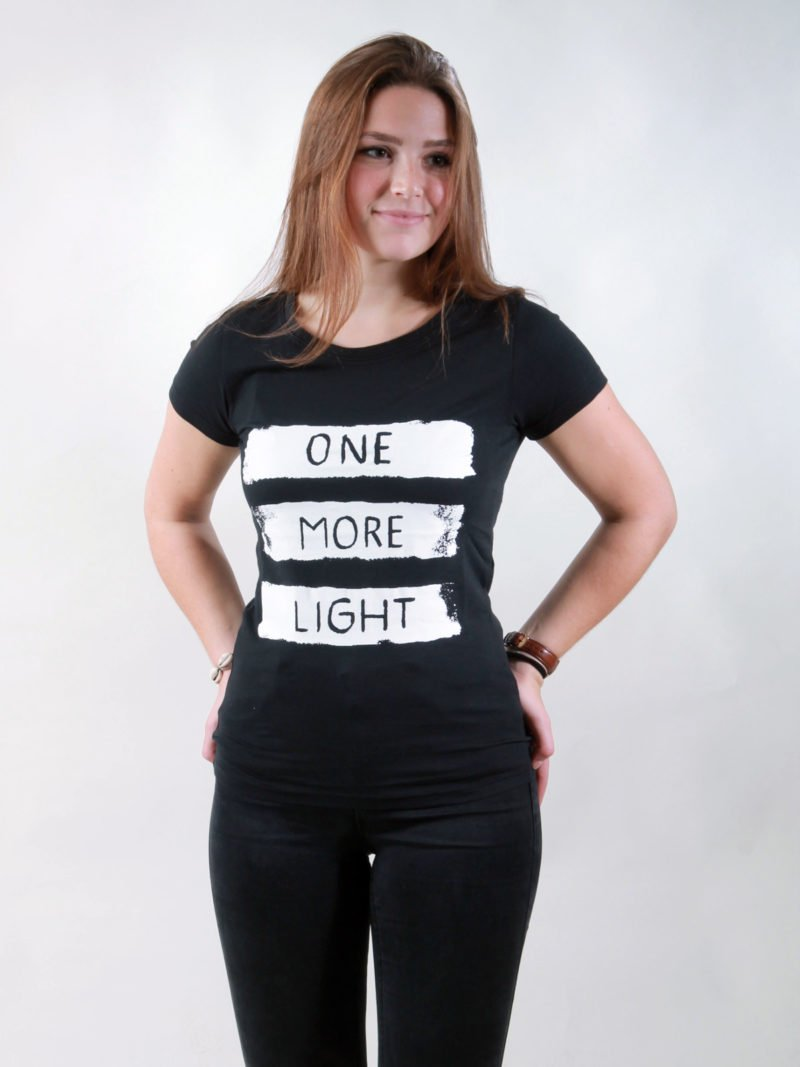 T-Shirt Damen Light black