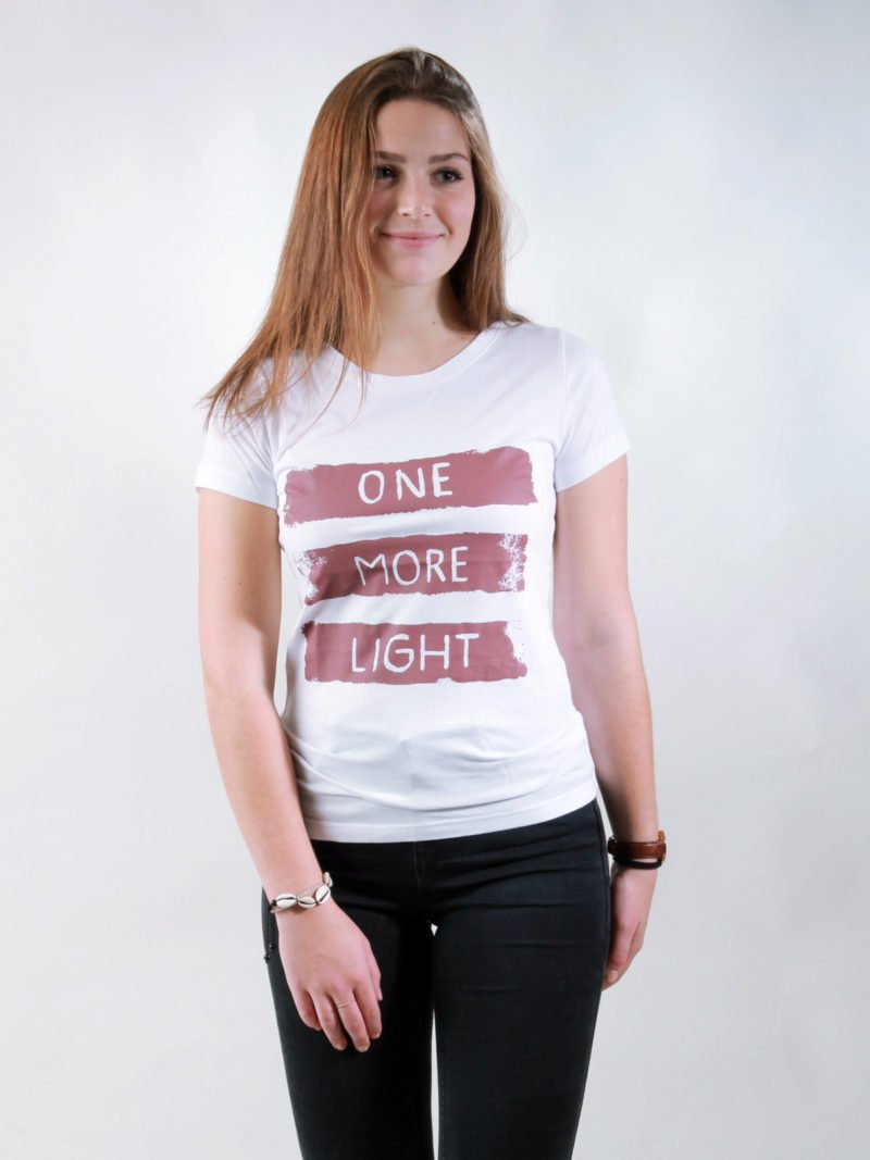 T-Shirt Damen Light white
