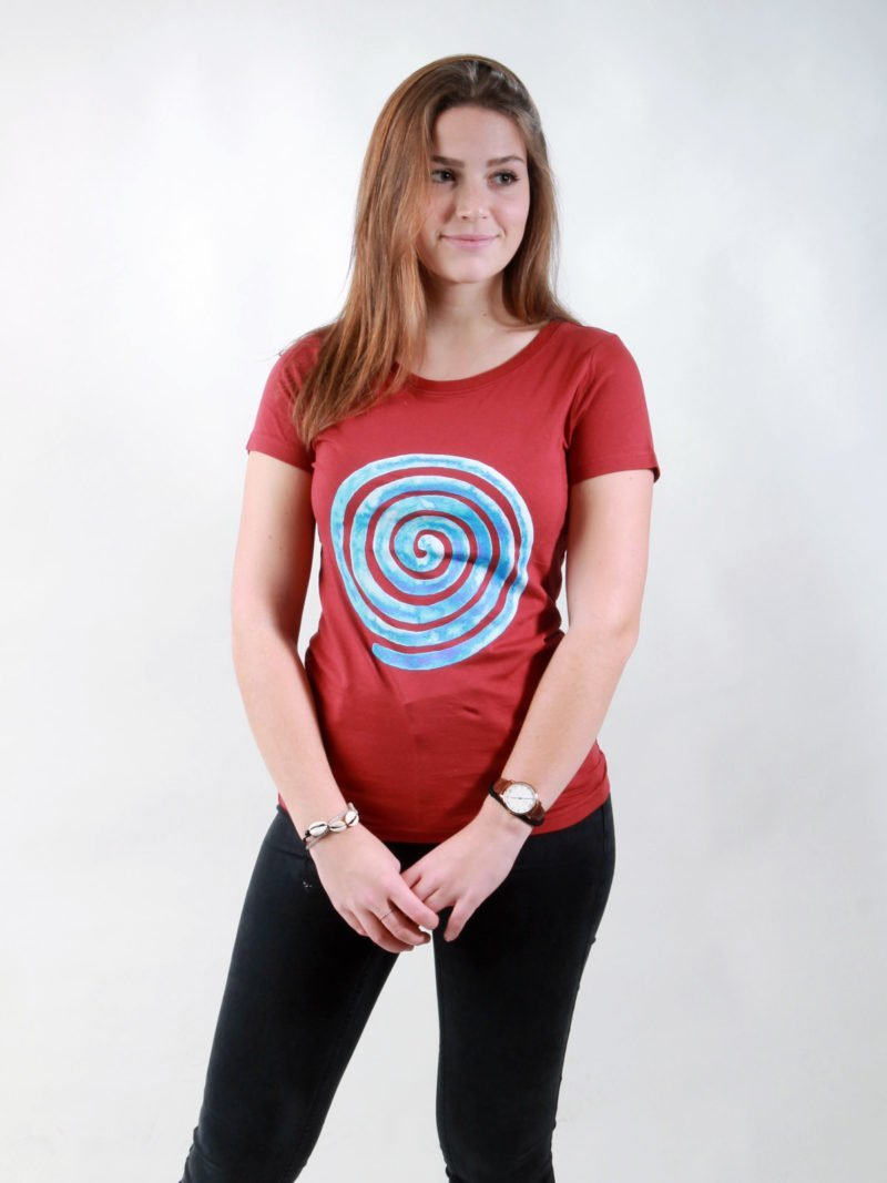 T-Shirt Damen Loop burning red