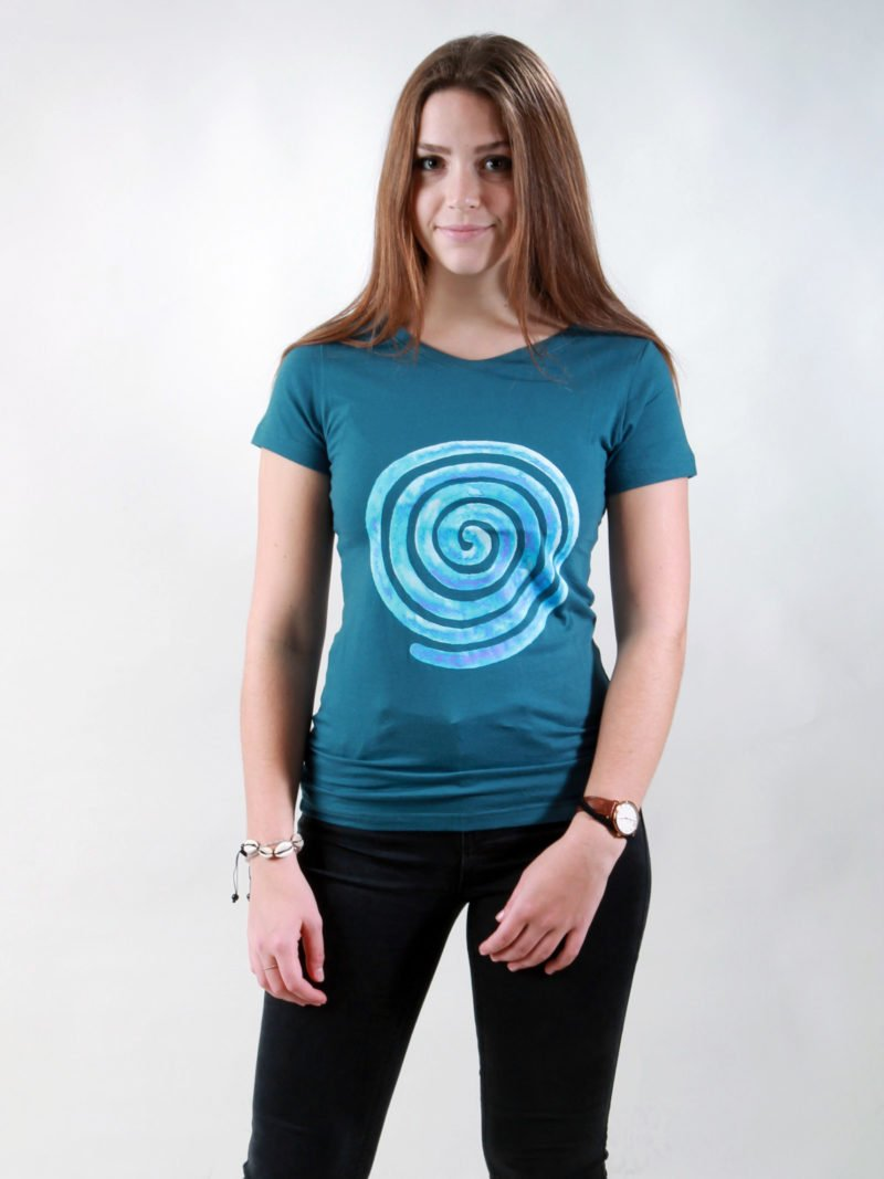 T-Shirt Damen Loop deep teal