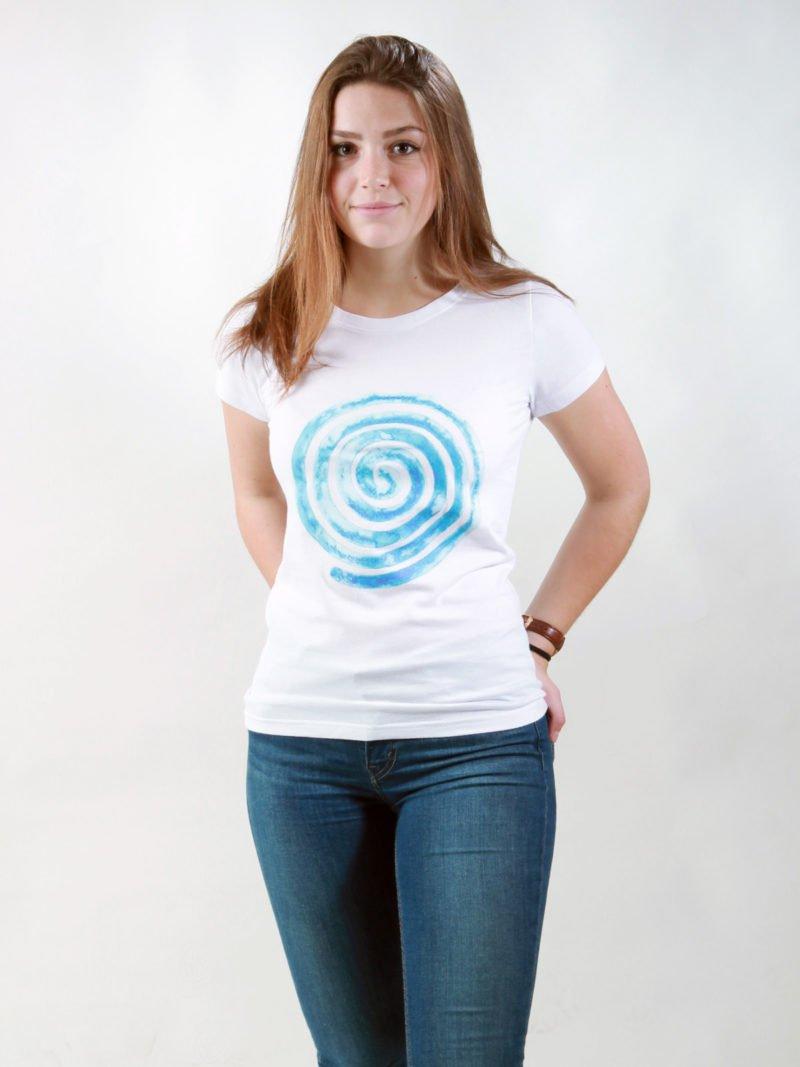 T-Shirt Damen Loop white