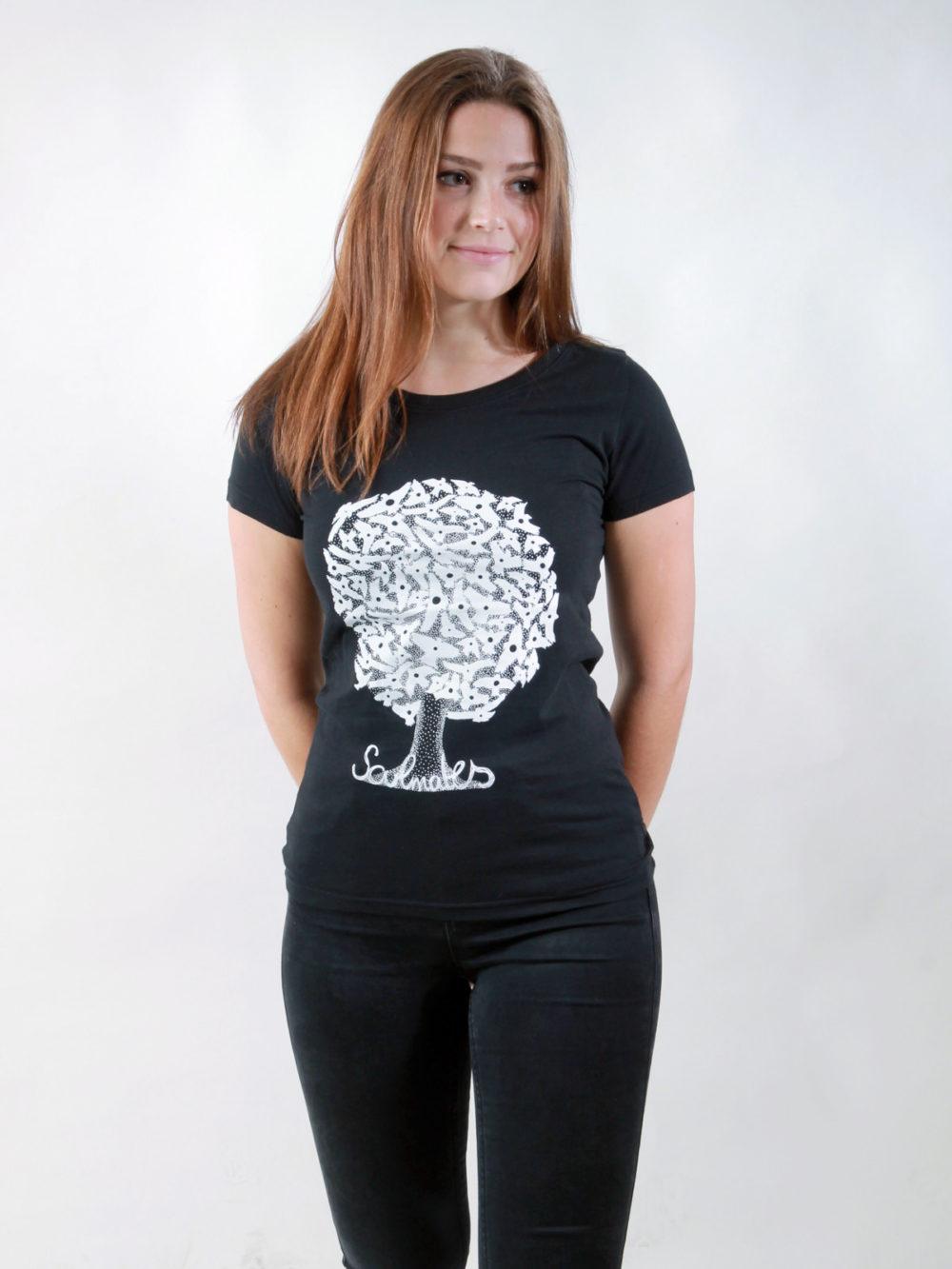 T-Shirt Damen Soulmates black