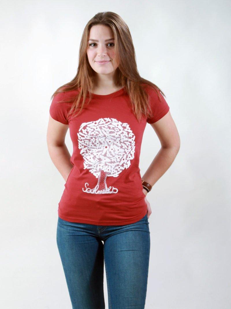 T-Shirt Damen Soulmates burning red