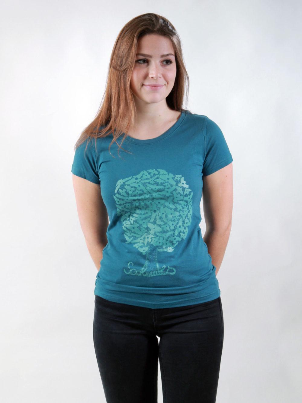 T-Shirt Damen Soulmates deep teal