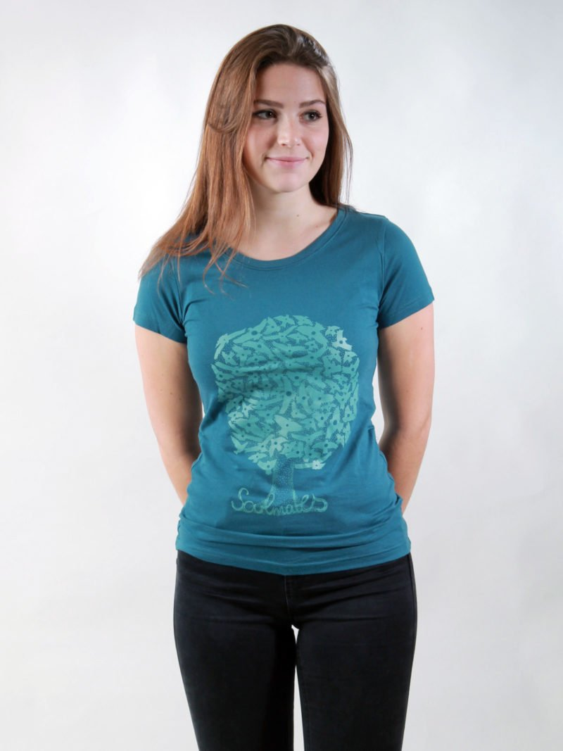 T-Shirt Damen Soulmates deep teal