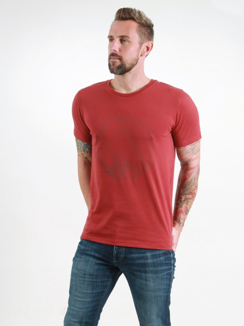 T-Shirt Man Crow burning red