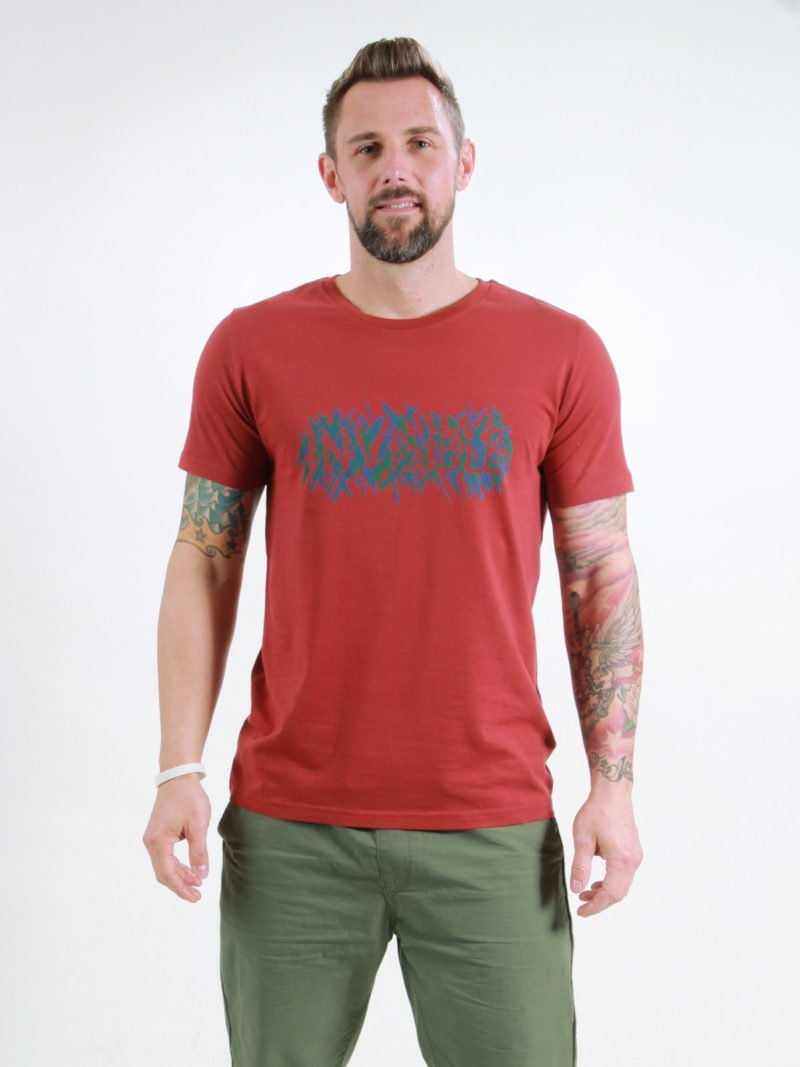 T-Shirt Man Invisible burning red