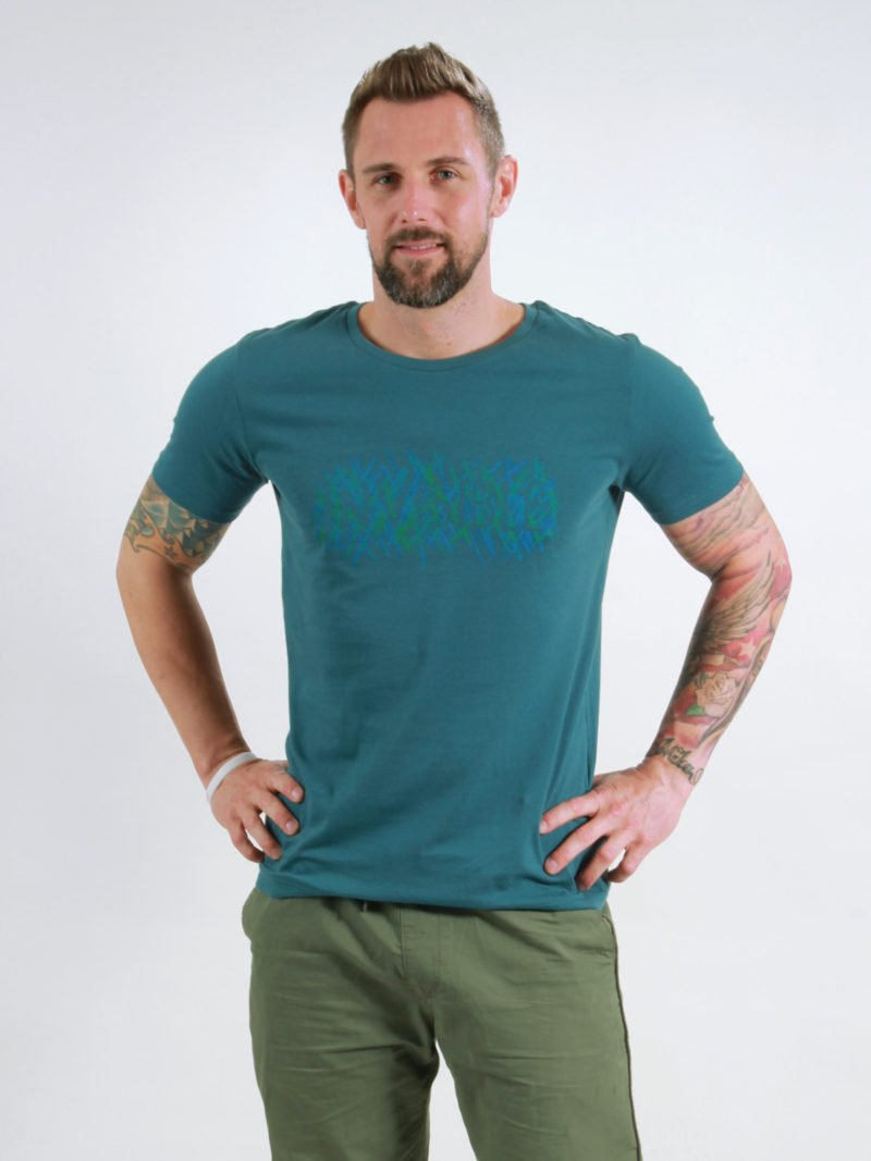T-Shirt Man Invisible deep teal