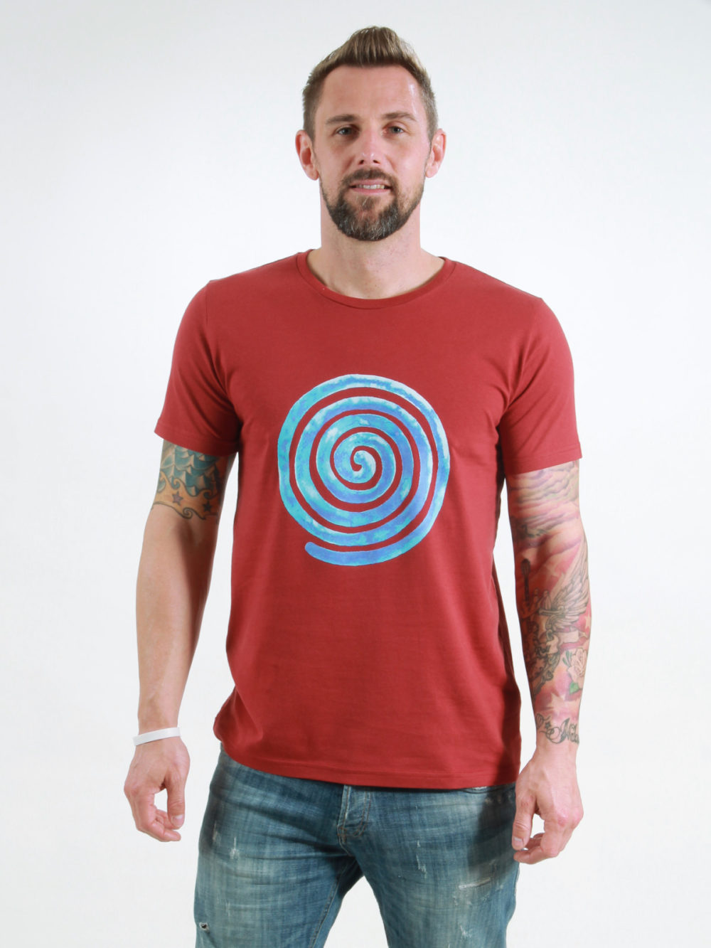 T-Shirt Man Loop burning red