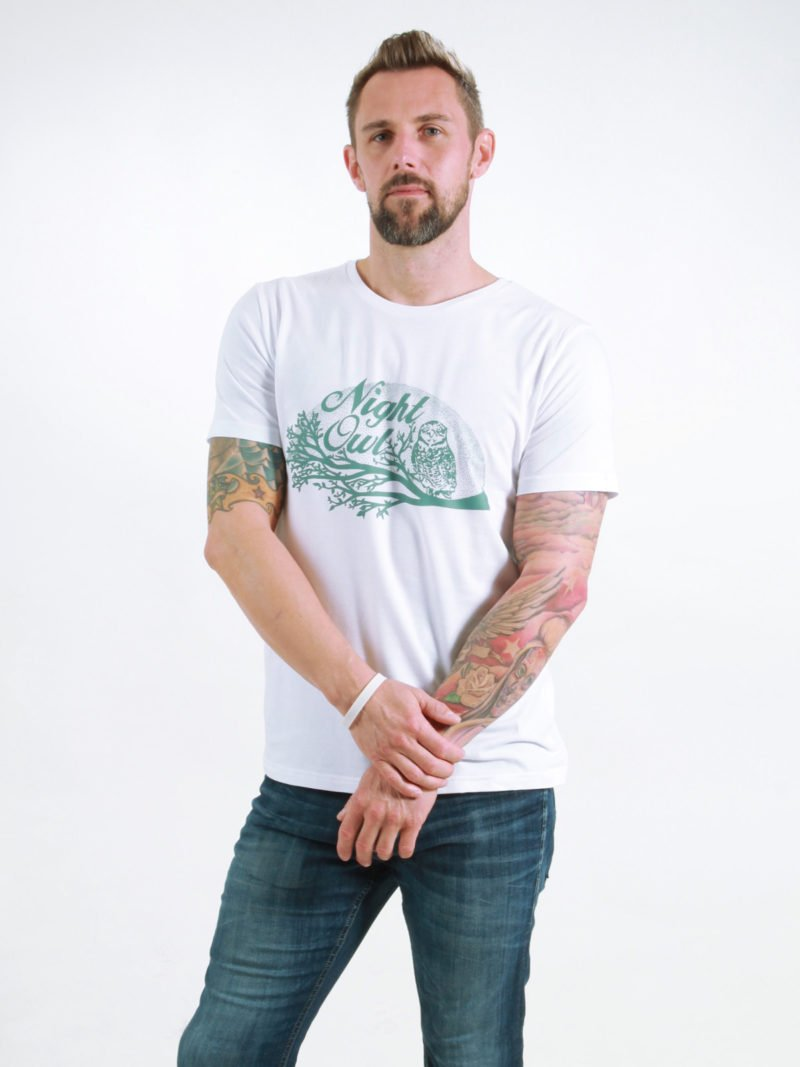 T-Shirt Man Night Owl white