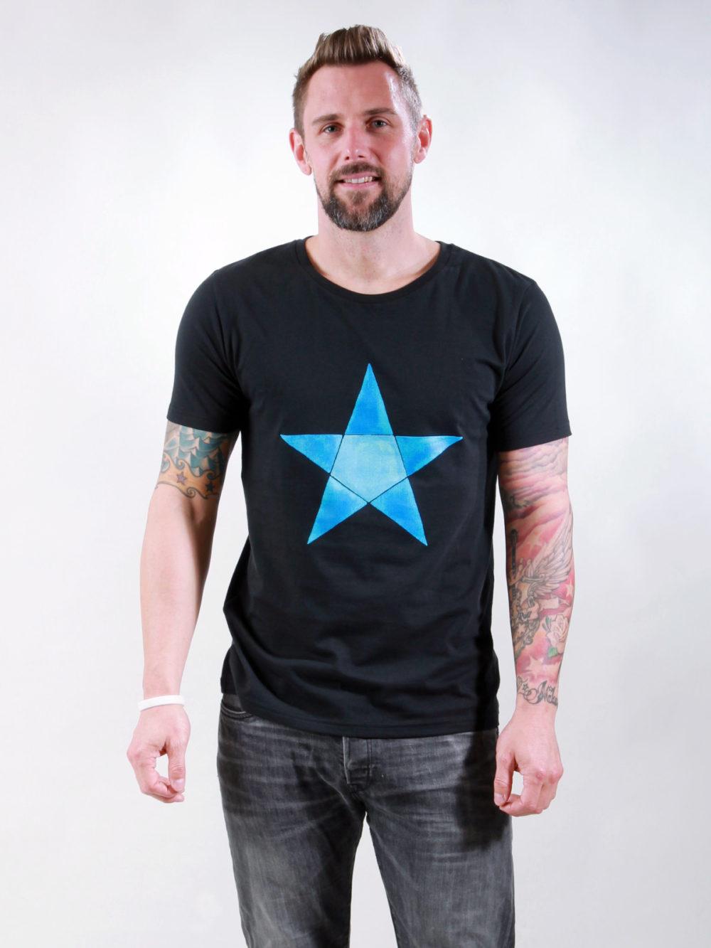 T-Shirt Man Origami Star black