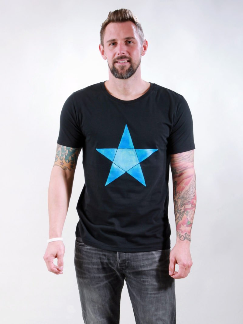 T-Shirt Man Origami Star black